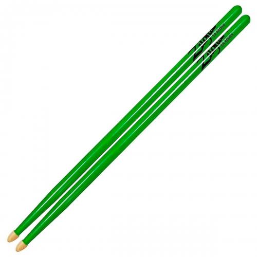 Zildjian 5A亮彩 橡果頭鼓棒 粉紅/亮黃/綠色 三色可選