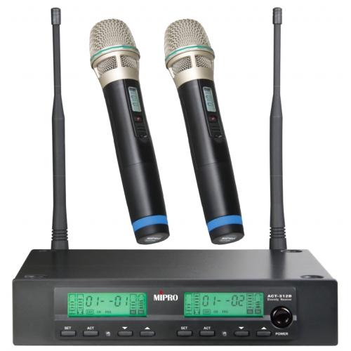 MiPro ACT-312B / ACT-32H *2 無線麥克風組(內含接收器與兩支麥克風)