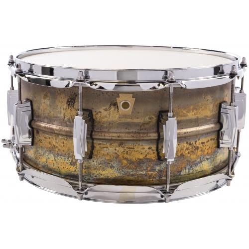 Ludwig 6.5x14 銹蝕黃銅小鼓 Raw Brass Phonic LB464R