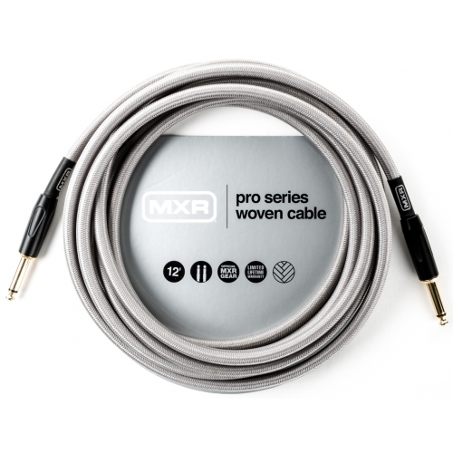 Dunlop 導線 12ft 專業級II頭銀色編織 DCIW12