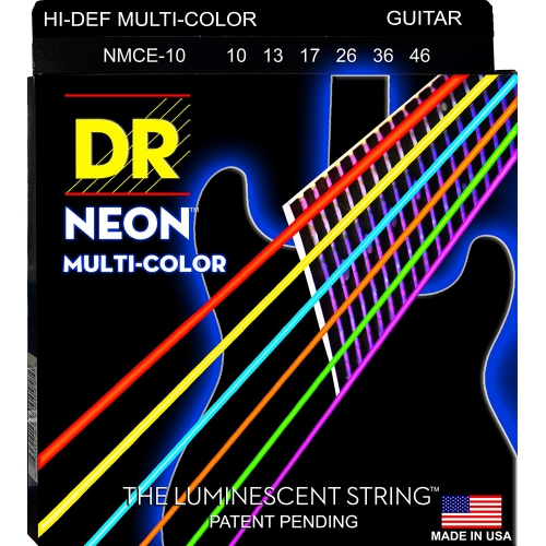 DR 10-46 彩色夜光電吉他弦 Neon Multi-Color NMCE10