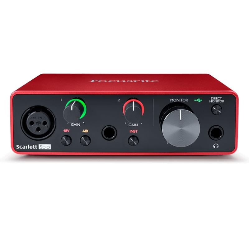 Focusrite Scarlett Solo 第三代 Type-C USB 錄音介面