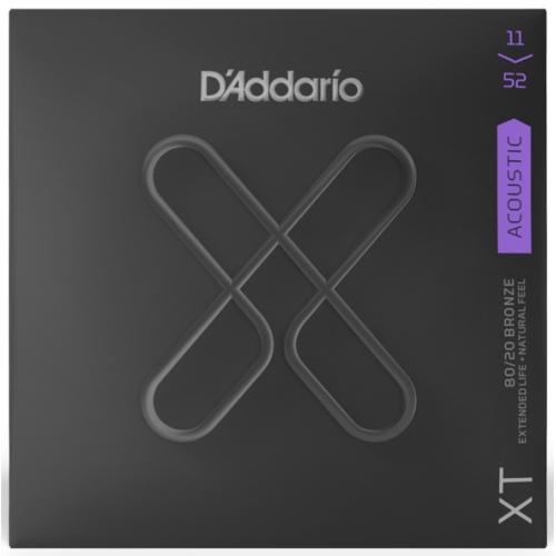 D'Addario XT 11-52 黃銅木吉他弦 (XTABR1152)