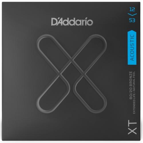 D'Addario XT 12-53 黃銅木吉他弦 (XTABR1253)