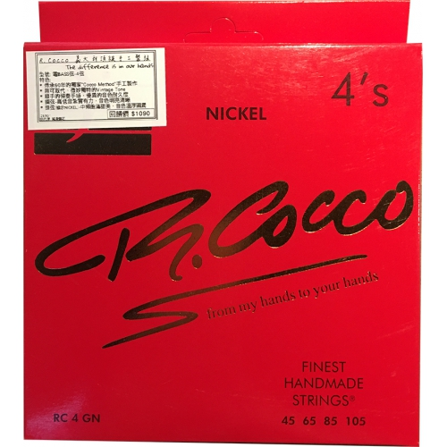 R.Cocco 電貝斯弦 45-105 鎳弦 RC4GN|義大利高級手工弦