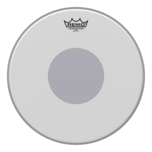 "Remo 14"" Controlled Sound 噴白單層+黑色貼點 鼓皮 CS-0114-10"
