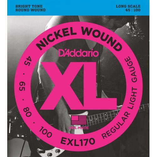 D'Addario EXL170 45-100 電貝斯弦 / Nickel Wound