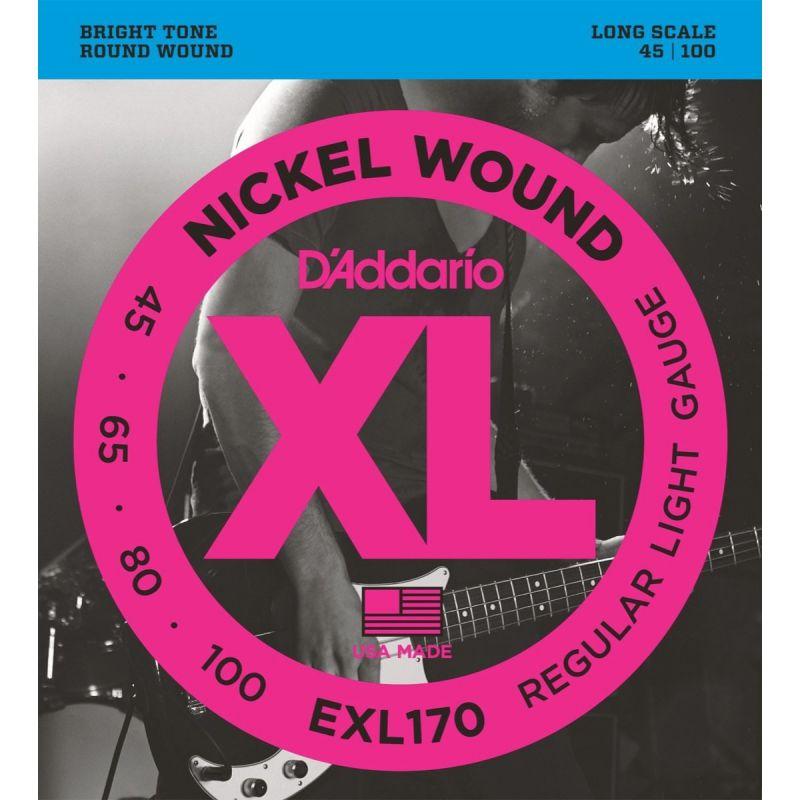 D'Addario EXL170 Nickel Wound BASS 45-100