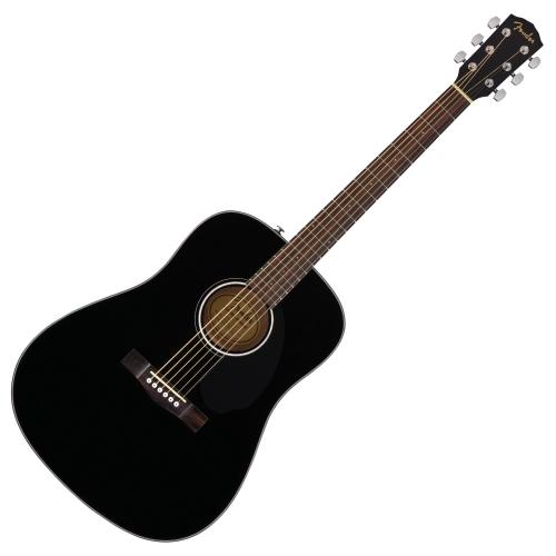 Fender CD-60S D桶面單板木吉他 - 黑色