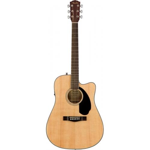 Fender CD-60SCE D桶面單缺角電木吉他 | 原木色