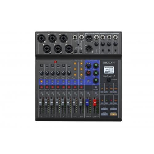 ZOOM LiveTrak L-8 混音器 錄音介面