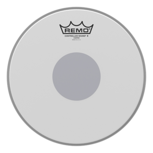 "Remo 10"" Controlled Sound X Coated Black Dot 單層噴白貼點小鼓皮 CX-0110-10"