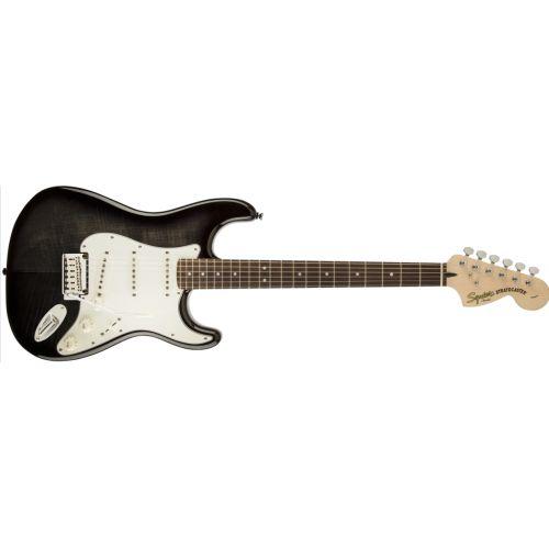 Squier Standard Strat FMT 電吉他 - 黑色 透木紋 (Ebony Transparent)