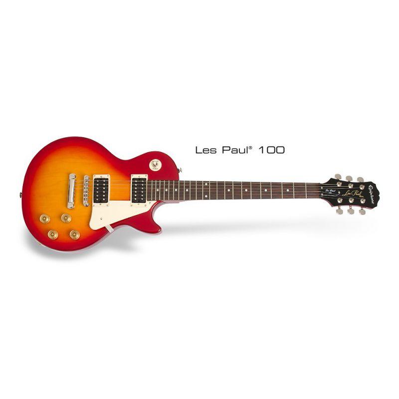Epiphone Les Paul 100 電吉他 - 櫻桃紅漸層 (Heritage Cherry Sunburst)