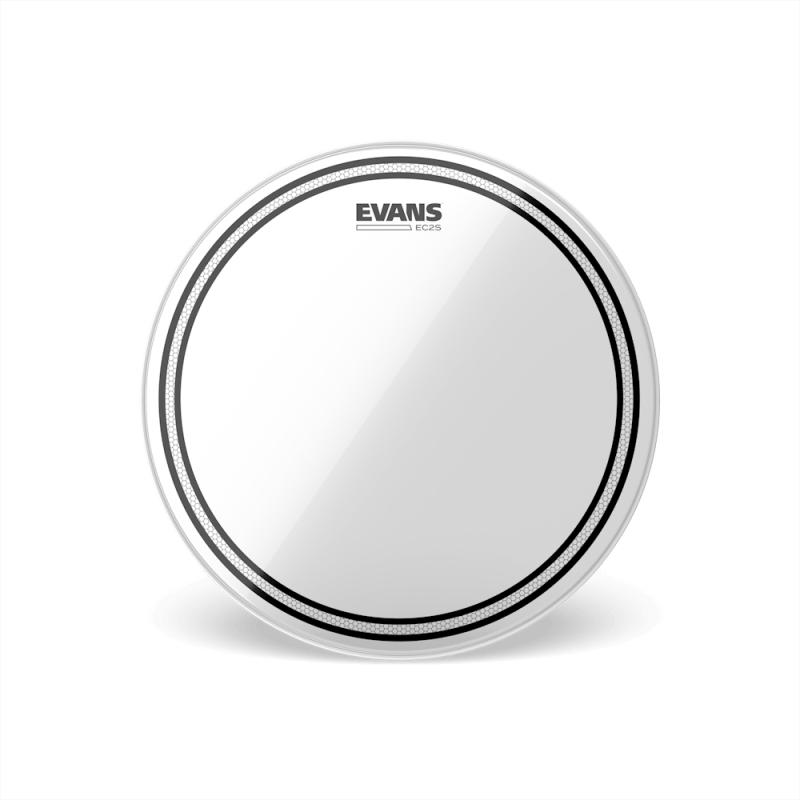 """Evans 12"""" EC2S Clear Tom打擊面鼓皮 雙層 透明 (TT12EC2S)"""