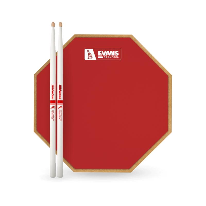 """Evans 12吋 RealFeel 12"""" 限量版 打點板 送 ProMark Rebound 5A 鼓棒 RF12G-RED-RB5A"""