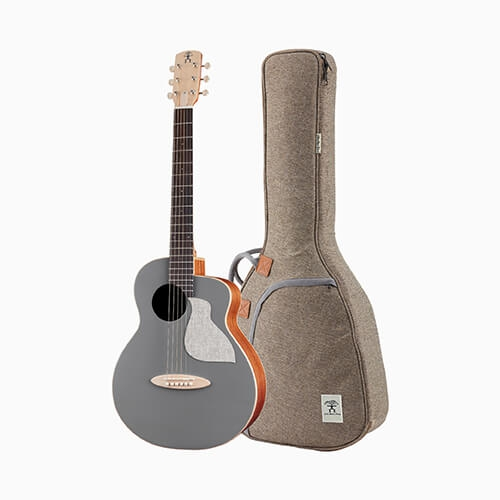 aNueNue 色彩系列 面單旅行吉他 寧靜灰 MC10-QS