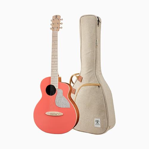 aNueNue 色彩系列 面單旅行吉他 接電款 活珊瑚橘 MC10-LCE