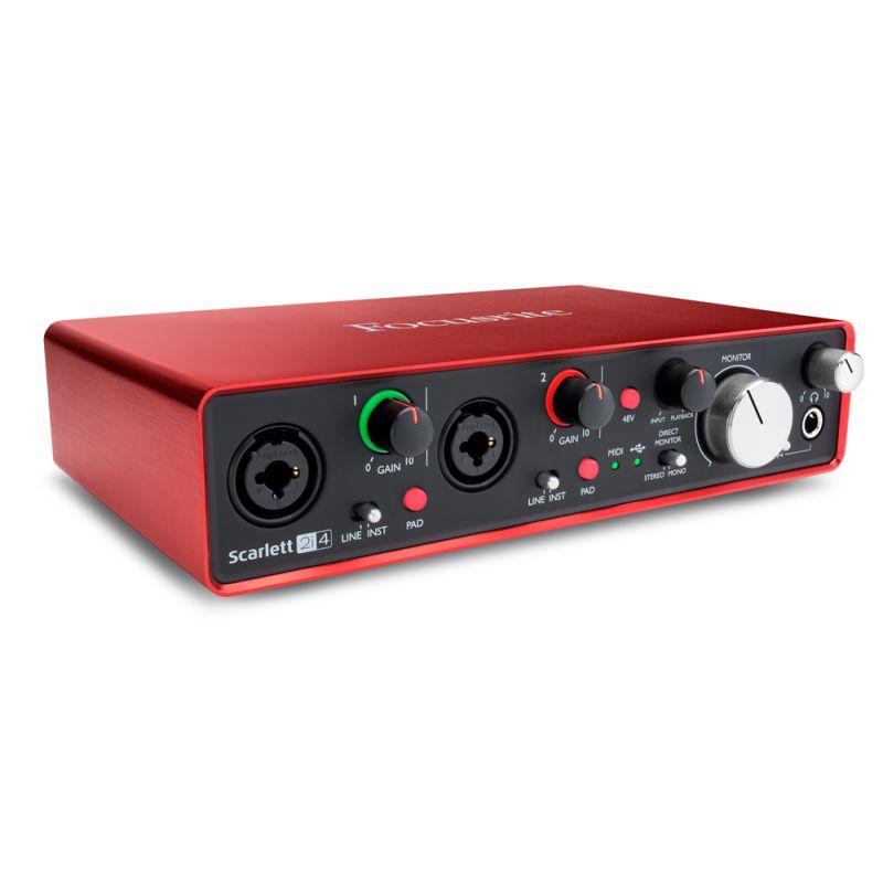 Focusrite Scarlett全新第二代 2i4 USB錄音介面