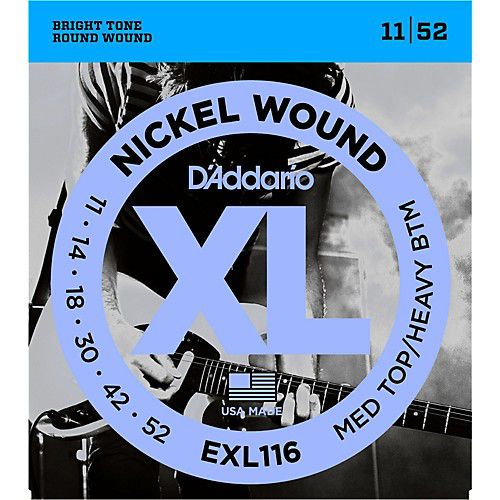 D'Addario EXL116 11-52 電吉他弦 / Nickel Wound