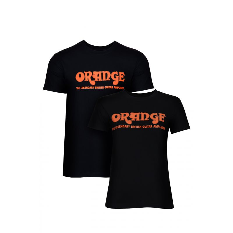 Orange Classic Black T-Shirt
