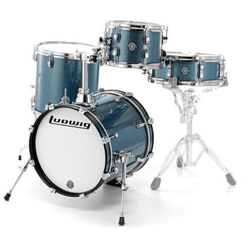 Ludwig Breakbeats 迷你便攜 旅行鼓組 - Azure Sparkle 蔚藍金蔥