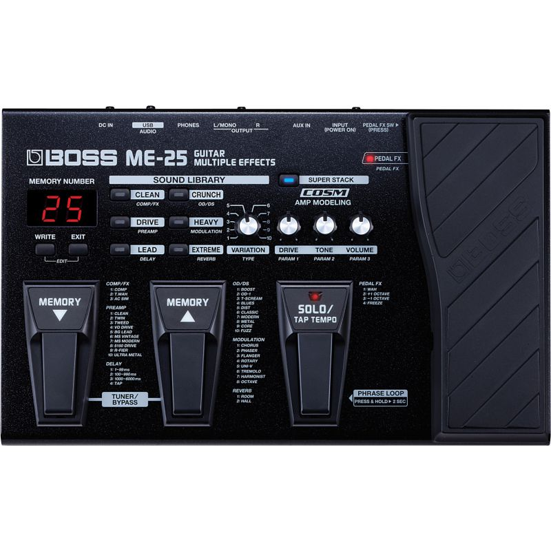 BOSS ME-25 Guitar Multiple Effects吉他綜合效果器