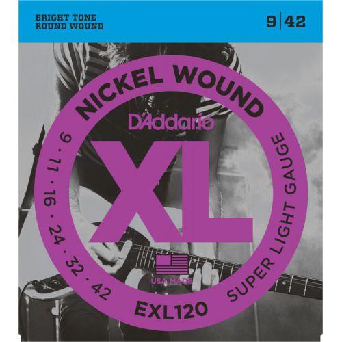 D'Addario EXL120 Nickel Wound EG09-42
