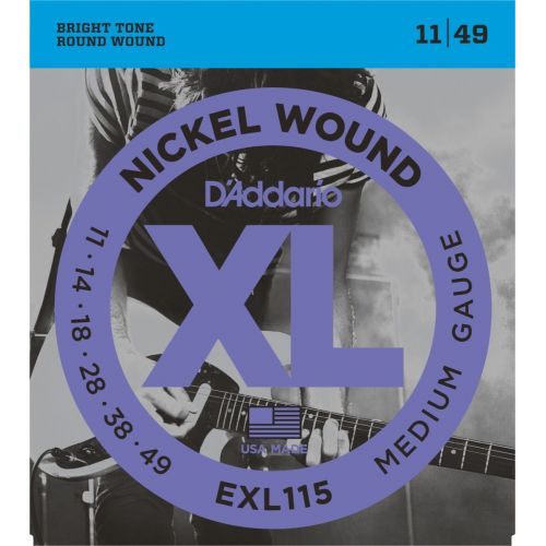 D'Addario EXL115 11-49 電吉他弦 / Nickel Wound
