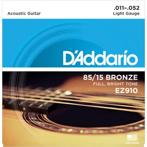 D'Addario EZ910 11-52 木吉他弦 85/15 Bronze