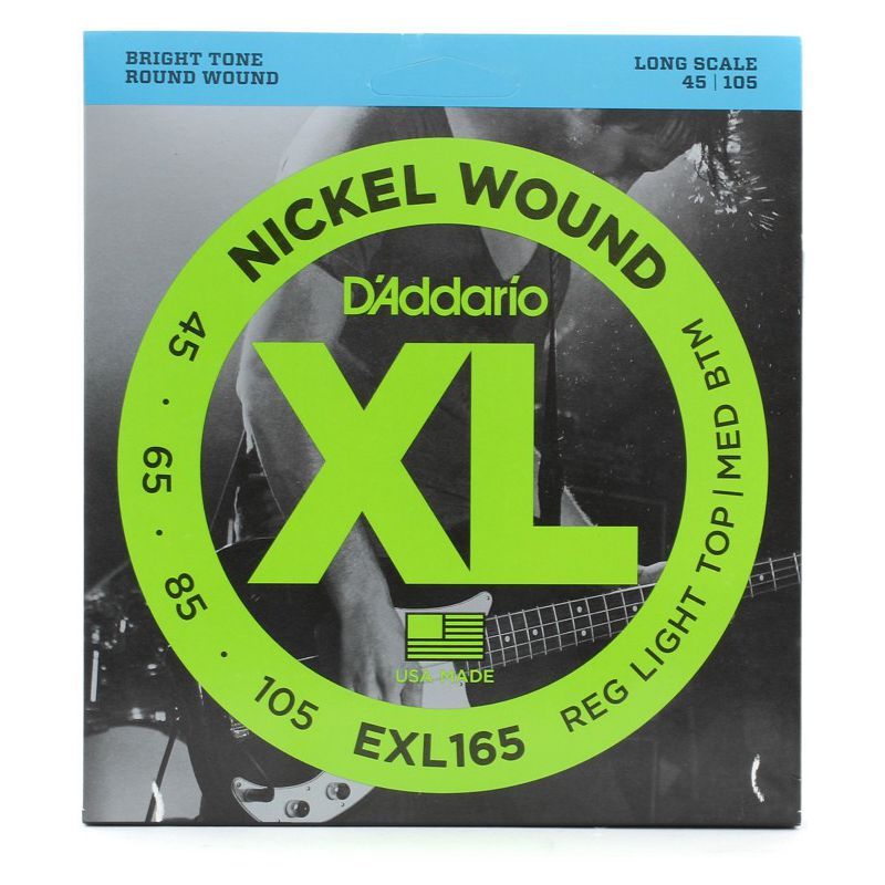 D'Addario EXL165 Nickel Wound BASS45-105