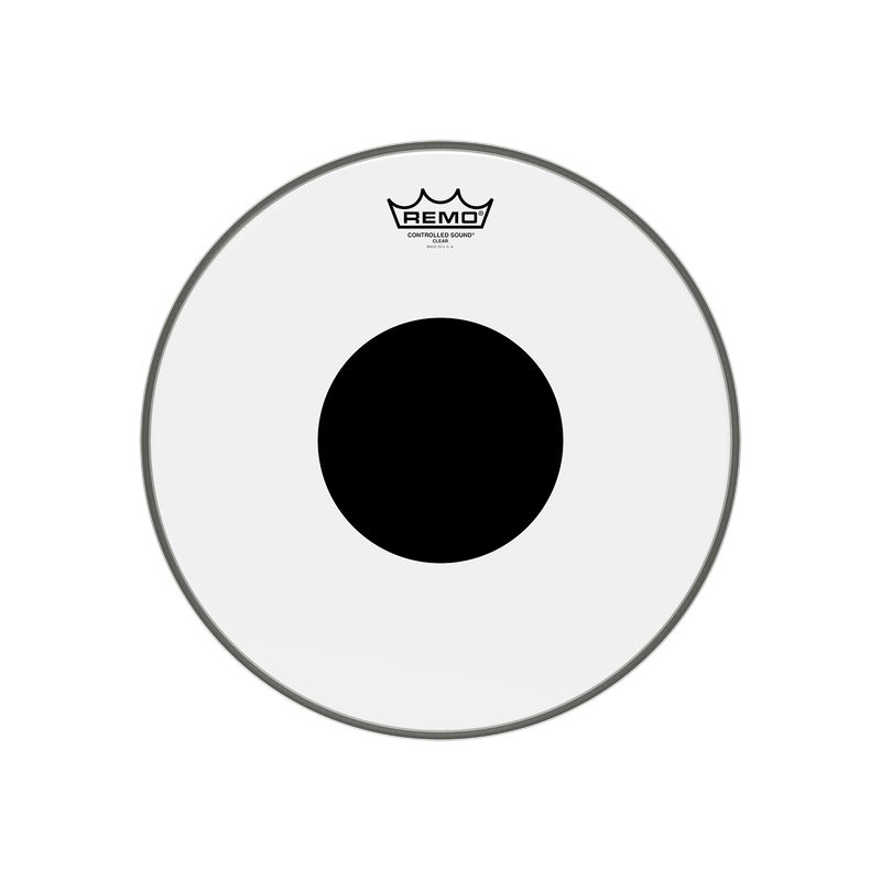 """Remo Drumheads Controlled Sound Clear Black Dot Bass/大鼓 打擊面鼓皮 ( 18"""" 20' 22' 24' )"""