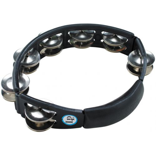 Latin Percussion Cyclops® Jingle Tambourine, Steel/Black/Hand Held LP150