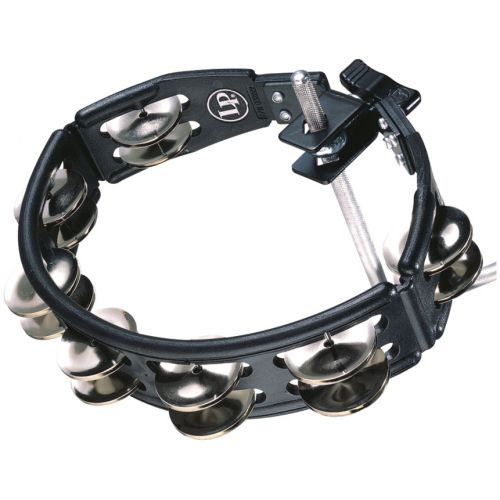 Latin Percussion Cyclops® Jingle Tambourine, Steel/ Black/Mountable LP160