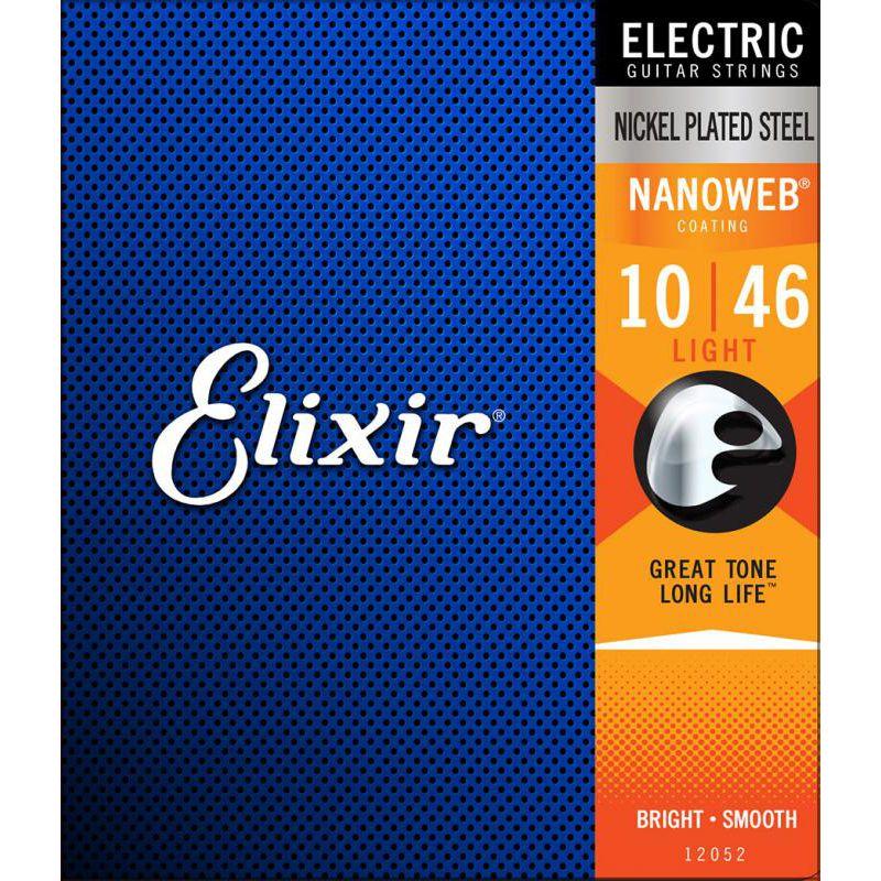 Elixir Nanoweb 薄包覆 10-46 電吉他弦 (12052)