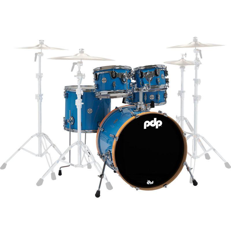 PDP 限量款 Concept LTD 鼓組 5PC 藍色漆面搭配橘色大鼓框