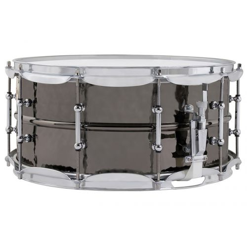 Ludwig Hammered Black Beauty 小鼓 6.5x14 鍍鎳銅鎚點 LB417KT
