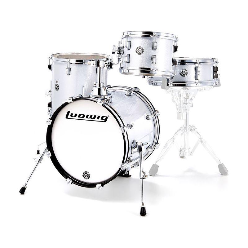 Ludwig Breakbeats 迷你便攜 旅行鼓組 - White Sparkle 白金蔥色
