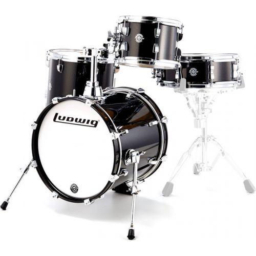 Ludwig Breakbeats 迷你便攜 旅行鼓組 - Black Sparkle 黑金蔥色