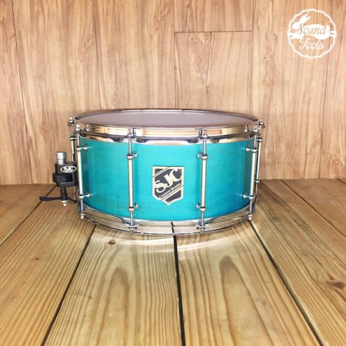 SJC 小鼓 6.5x14 Teal Satin Stain