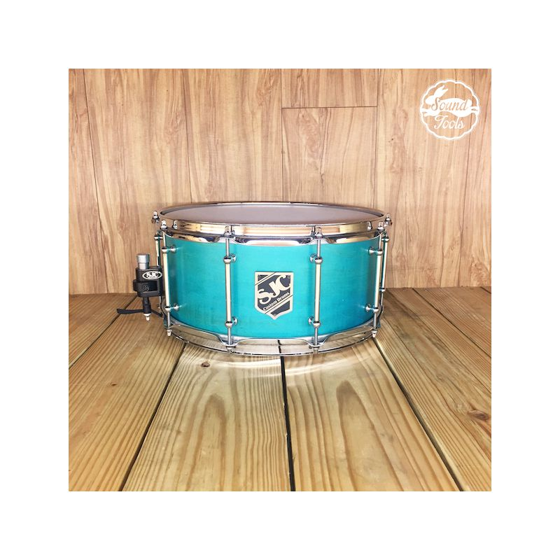 SJC 6.5x14 Teal Satin 小鼓