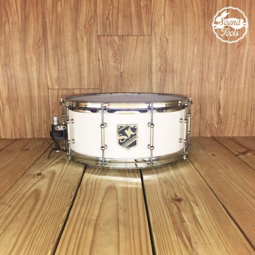SJC 小鼓 6x14 White Satin Stain