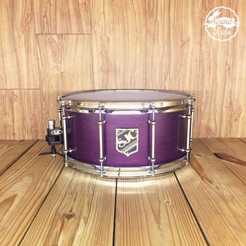 SJC 小鼓 6.5x14 Purple Satin Stain