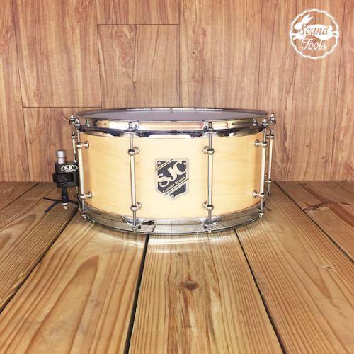 SJC 小鼓 6.5x14 Natural Satin Stain