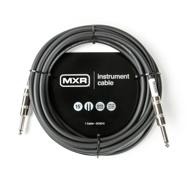 Dunlop 15呎標準款樂器導線 II雙直頭 DCIS15