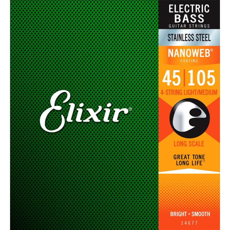 Elixir Nanoweb Bass 四弦 45-105 / 不鏽鋼 (14677)