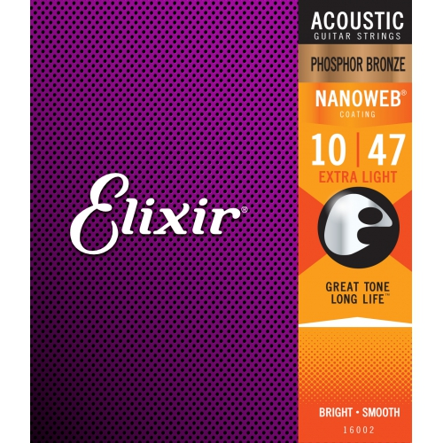 Elixir Nanoweb 薄包覆 10-47 木吉他弦 Phosphor Bronze 磷青銅 (16002)
