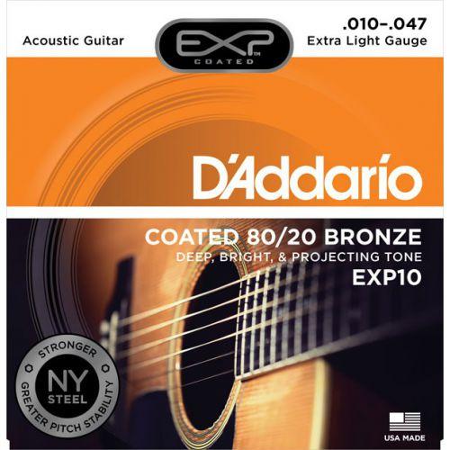 D'Addario EXP10 10-47 木吉他弦 80/20 Bronze 黃銅