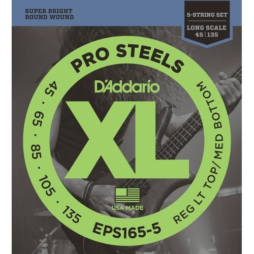 D'Addario EPS165-5 五弦 45-135 ProSteels 不鏽鋼弦