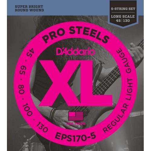 D'Addario EPS170-5 電貝斯弦 45-130 ProSteels 不鏽鋼 五弦